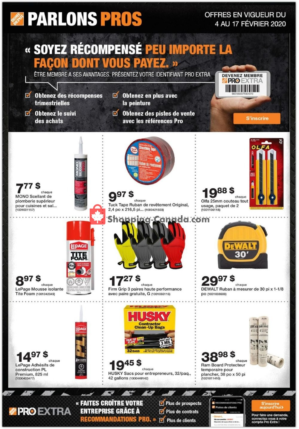 Flyer Home Depot Canada - from Tuesday February 4, 2020 to Monday February 17, 2020