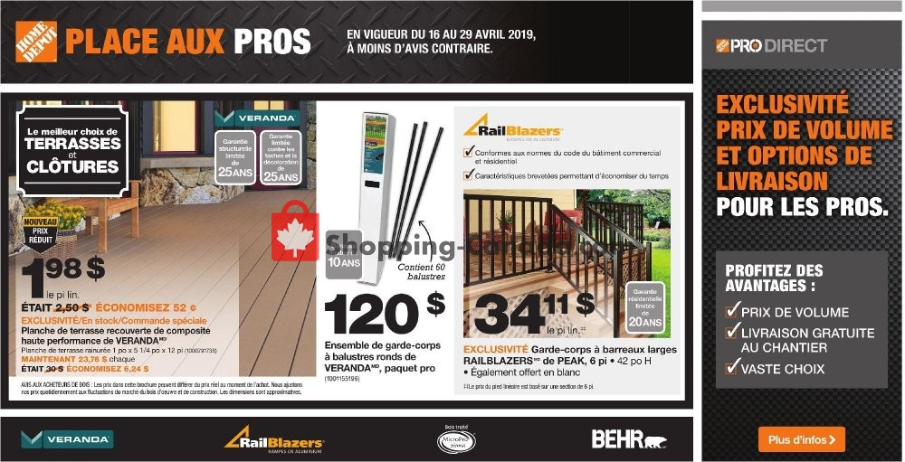 Flyer Home Depot Canada - from Tuesday April 16, 2019 to Monday April 29, 2019