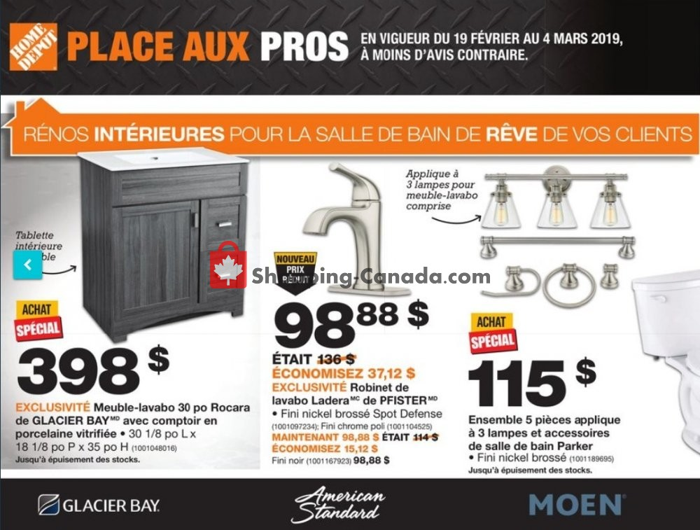 Flyer Home Depot Canada - from Tuesday February 19, 2019 to Monday March 4, 2019