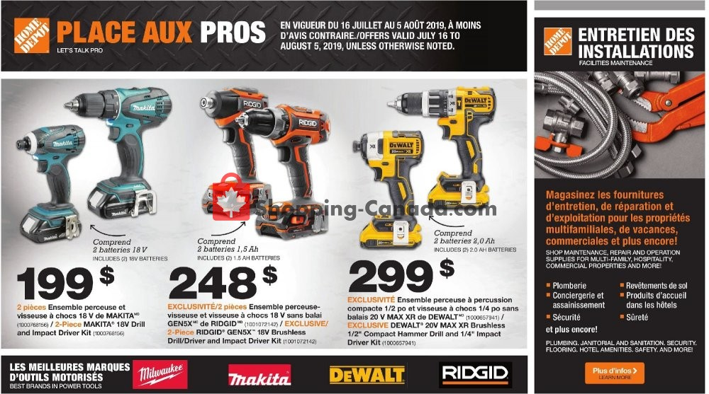 Flyer Home Depot Canada - from Tuesday July 16, 2019 to Monday August 5, 2019