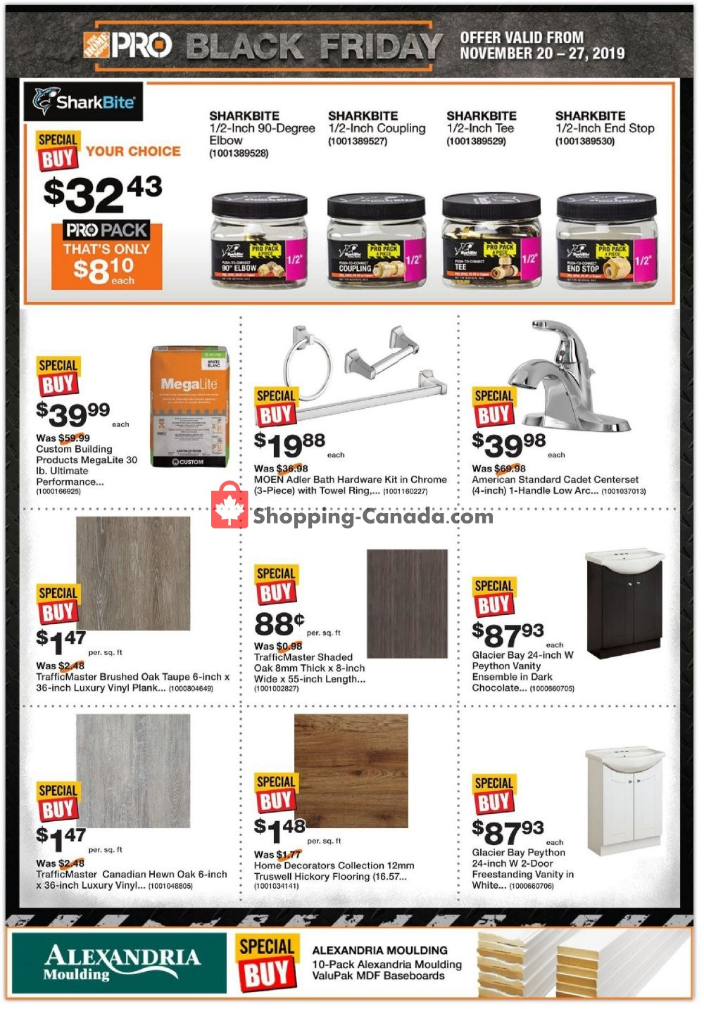 Flyer Home Depot Canada - from Wednesday November 20, 2019 to Wednesday November 27, 2019