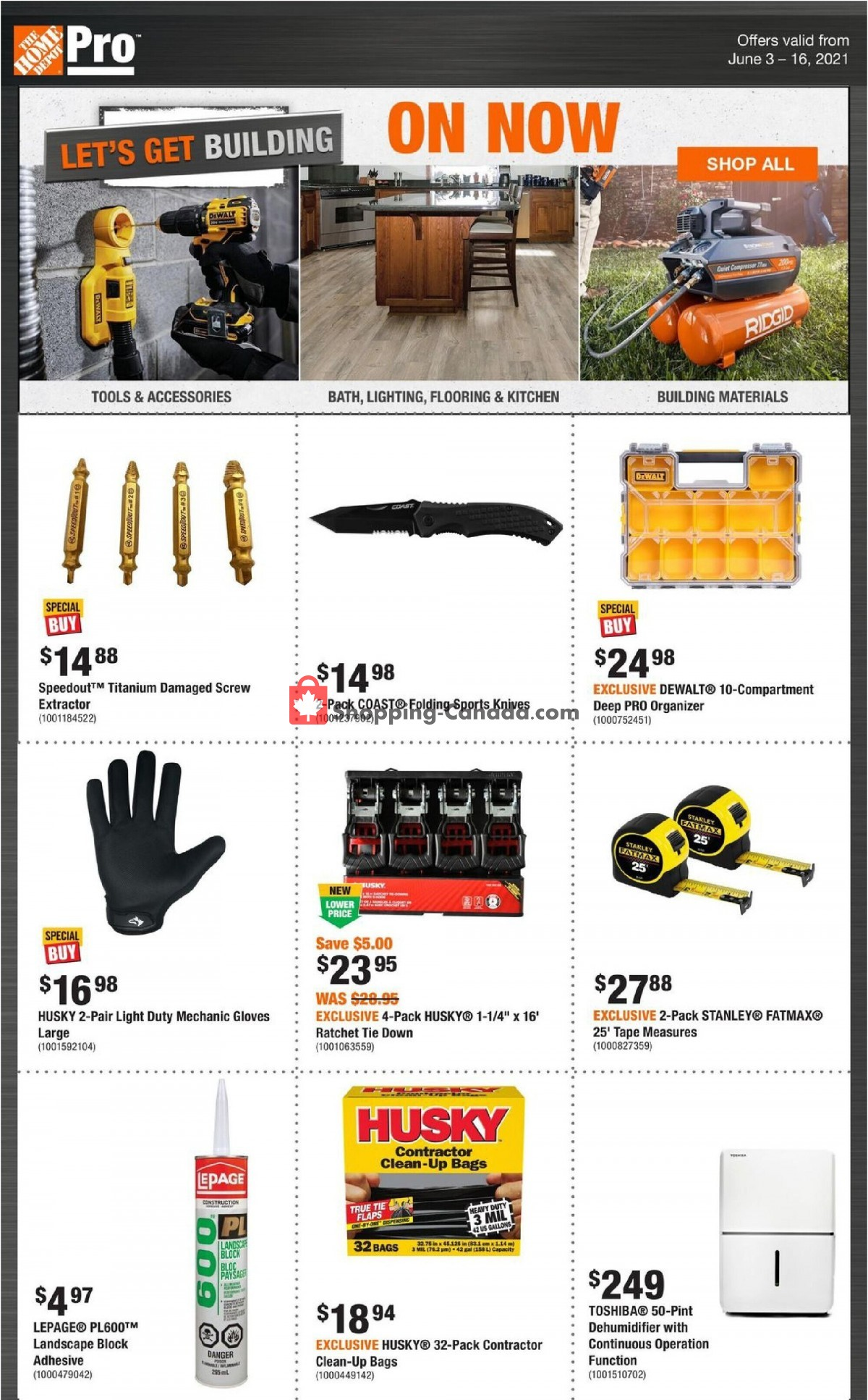 Flyer Home Depot Canada - from Thursday June 3, 2021 to Wednesday June 16, 2021