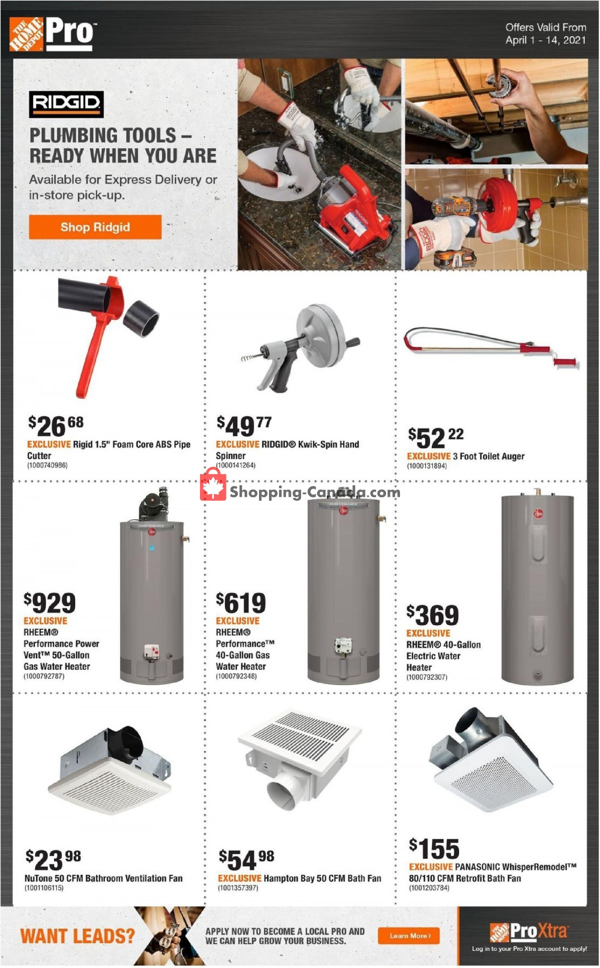 Flyer Home Depot Canada - from Thursday April 1, 2021 to Wednesday April 14, 2021
