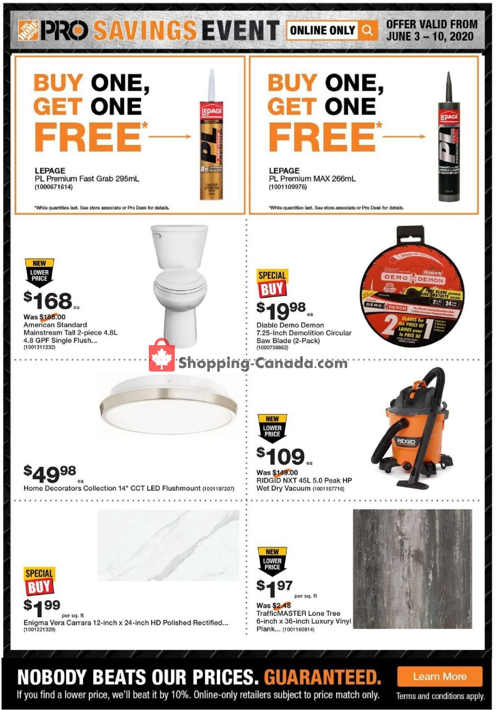 Flyer Home Depot Canada - from Wednesday June 3, 2020 to Wednesday June 10, 2020