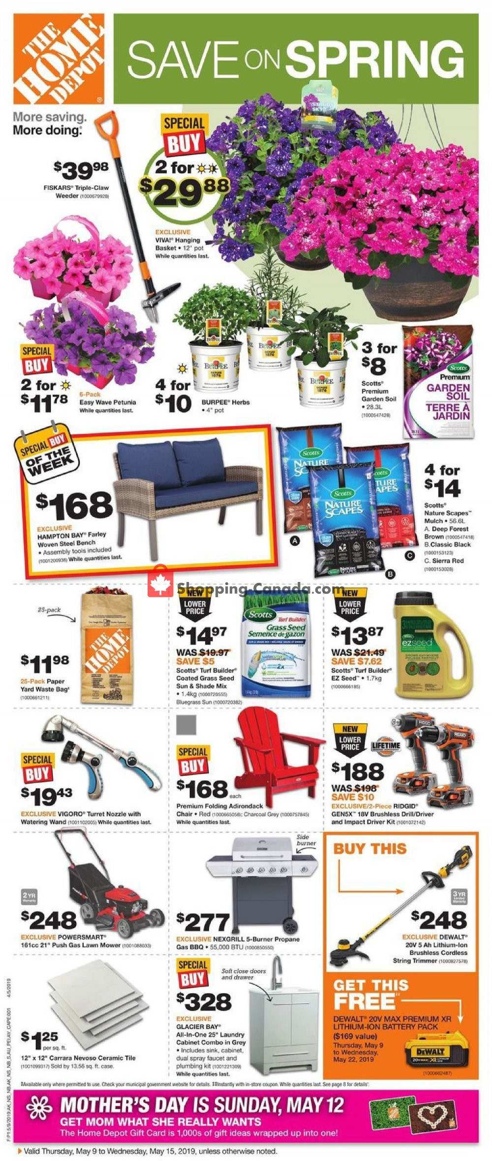 Flyer Home Depot Canada - from Thursday May 9, 2019 to Wednesday May 15, 2019