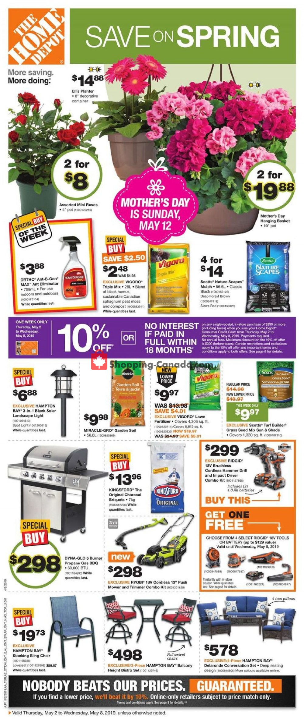 Flyer Home Depot Canada - from Thursday May 2, 2019 to Wednesday May 8, 2019