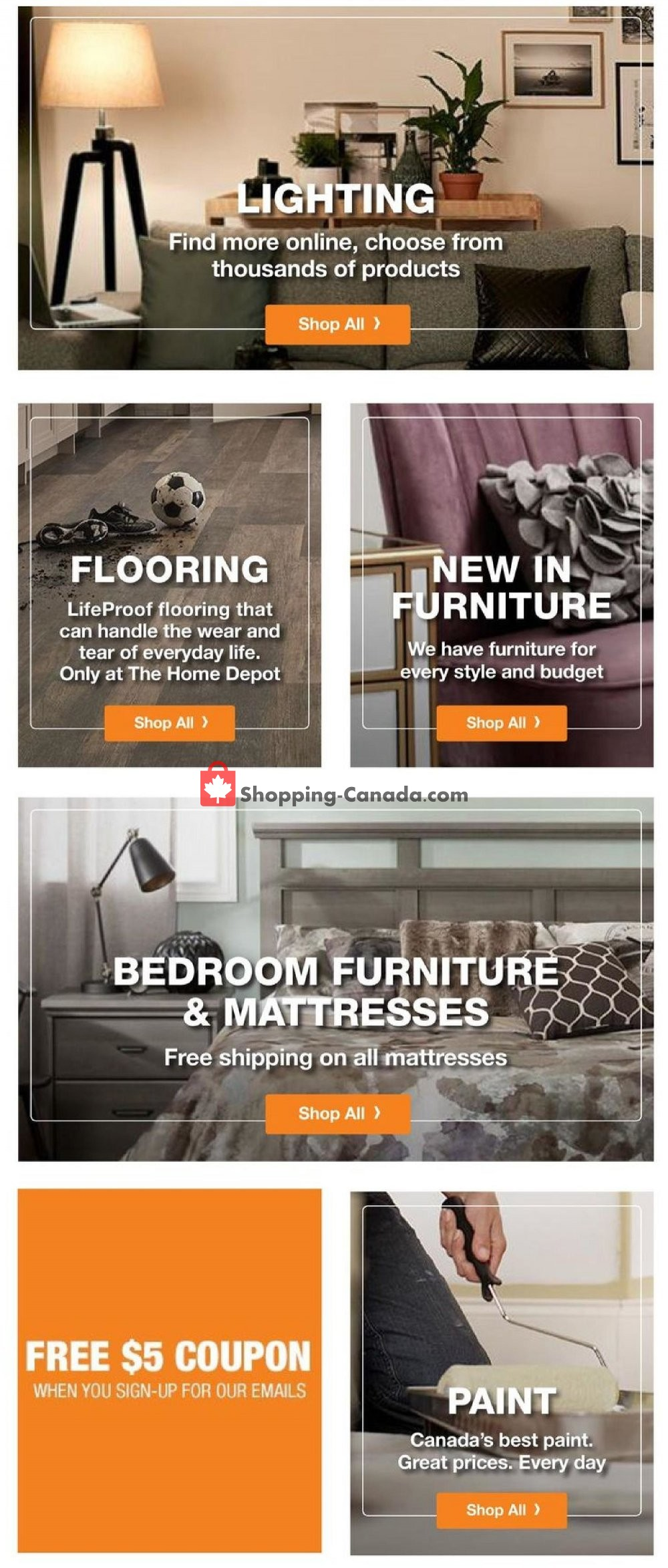 Flyer Home Depot Canada - from Thursday October 11, 2018 to Wednesday October 17, 2018
