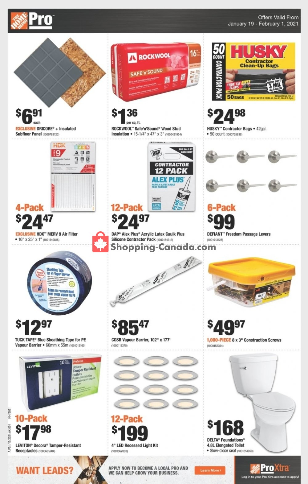 Flyer Home Depot Canada - from Tuesday January 19, 2021 to Monday February 1, 2021