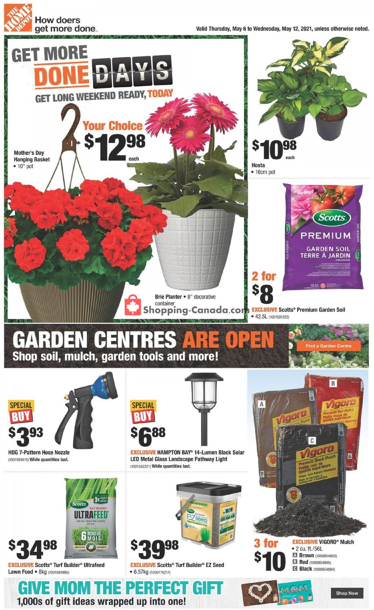 Flyer Home Depot Canada - from Thursday May 6, 2021 to Wednesday May 12, 2021