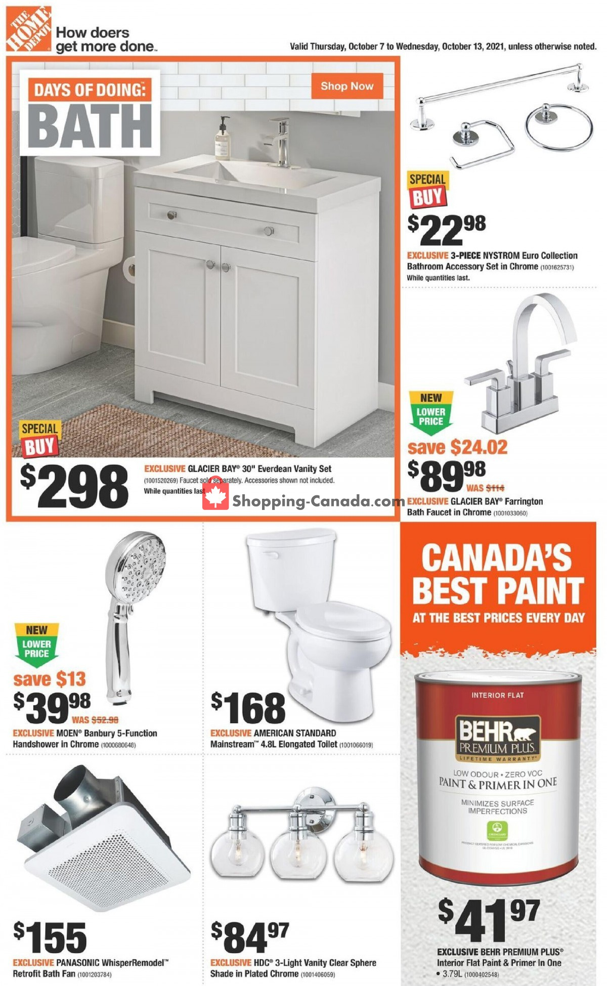 Flyer Home Depot Canada - from Thursday October 7, 2021 to Wednesday October 13, 2021