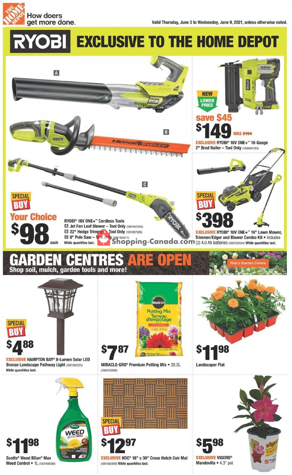 Flyer Home Depot Canada - from Thursday June 3, 2021 to Wednesday June 9, 2021
