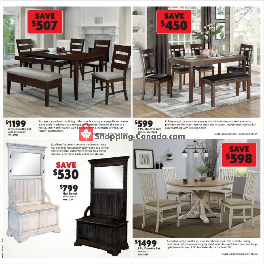 Flyer Home Furniture Canada - from Thursday January 16, 2020 to Sunday January 26, 2020