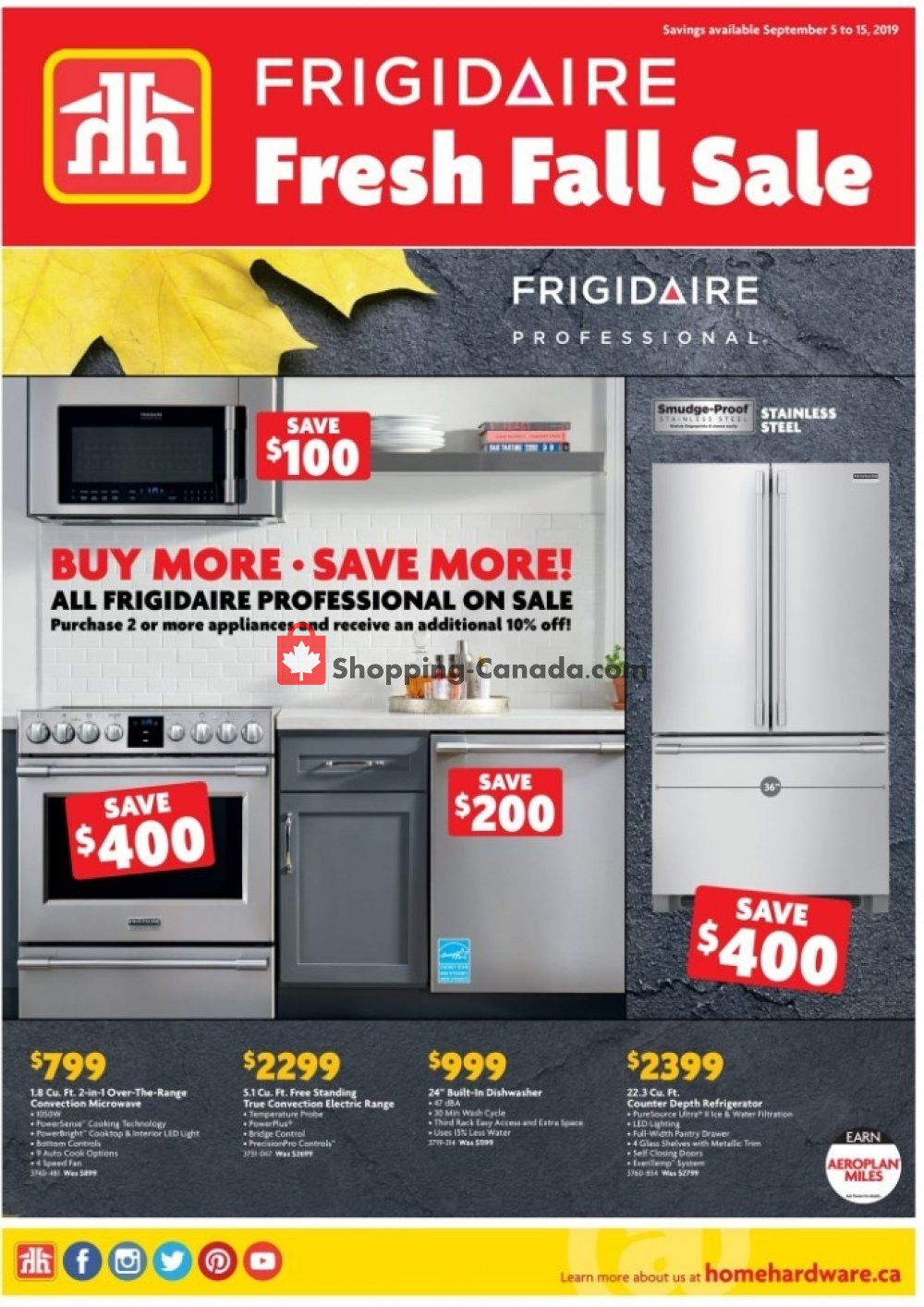 Flyer Home Furniture Canada - from Thursday September 5, 2019 to Sunday September 15, 2019