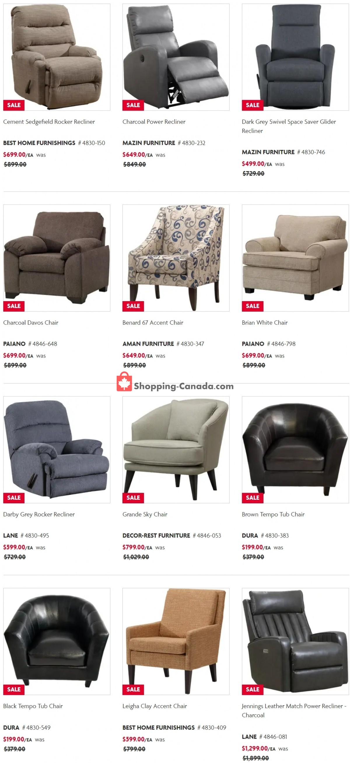 Flyer Home Furniture Canada - from Tuesday June 8, 2021 to Wednesday June 9, 2021