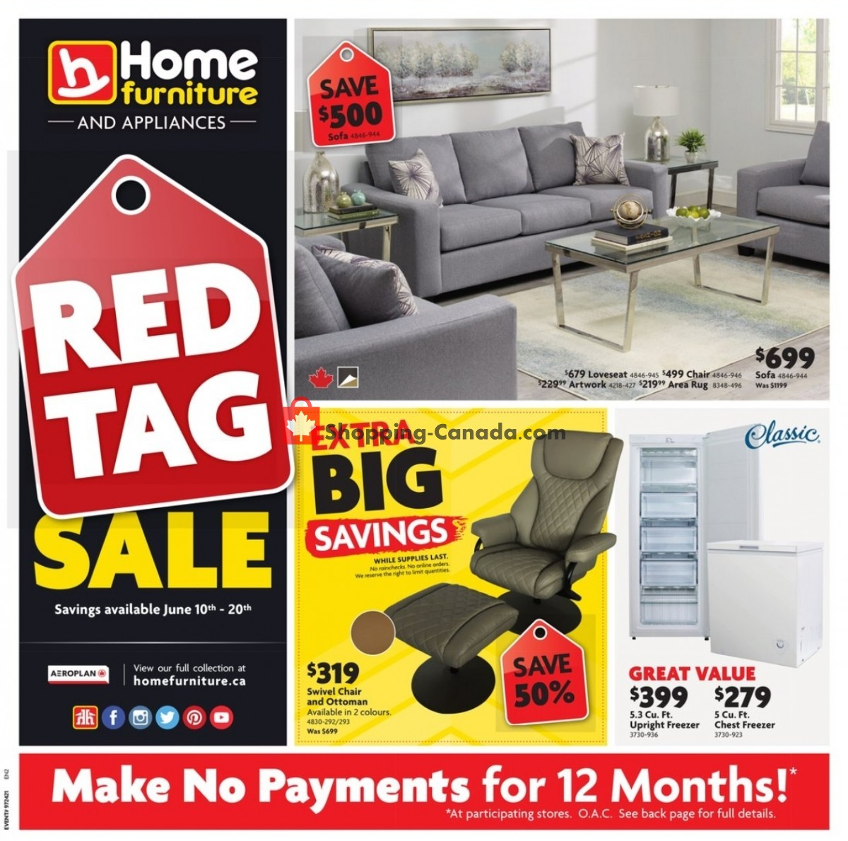 Flyer Home Furniture Canada - from Thursday June 10, 2021 to Sunday June 20, 2021