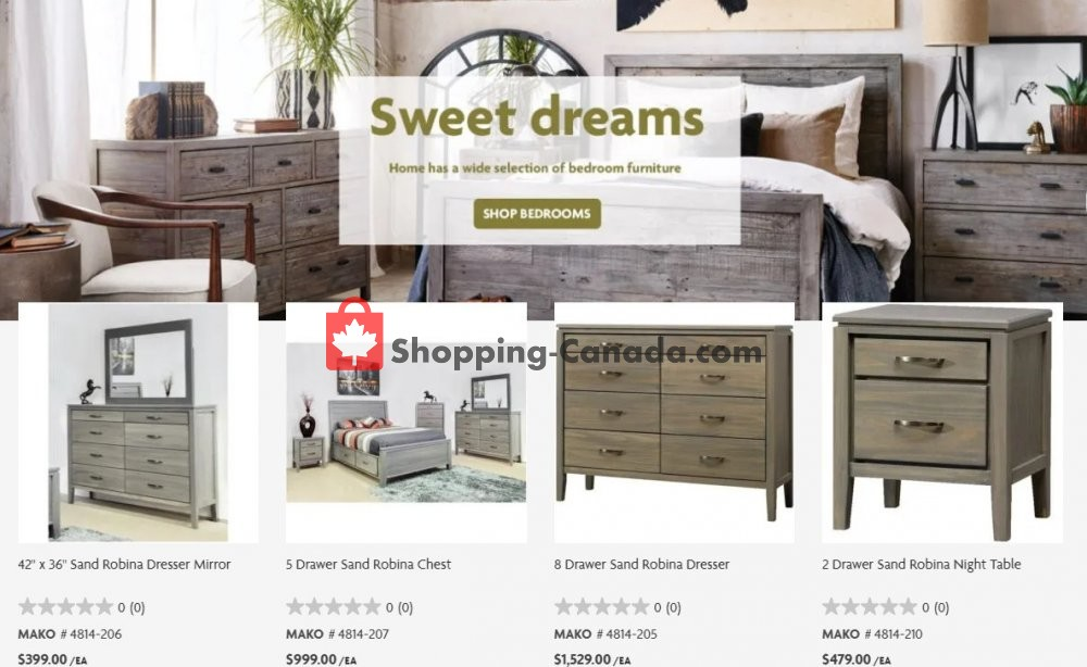Flyer Home Furniture Canada - from Tuesday April 21, 2020 to Monday April 27, 2020