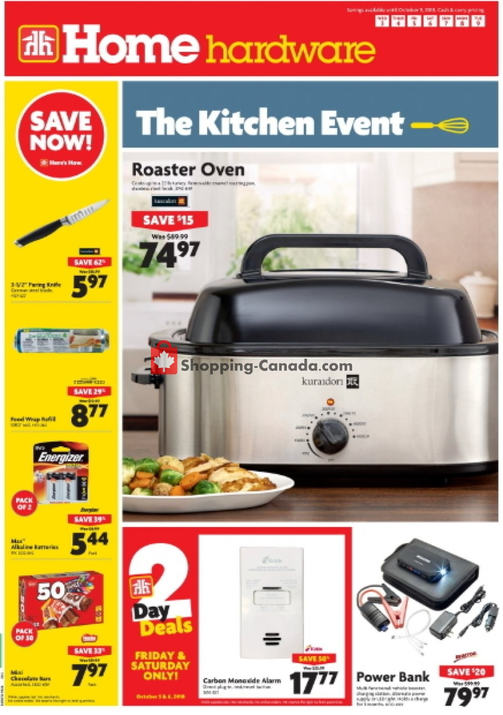 Flyer Home Hardware Canada - from Wednesday October 3, 2018 to Tuesday October 9, 2018