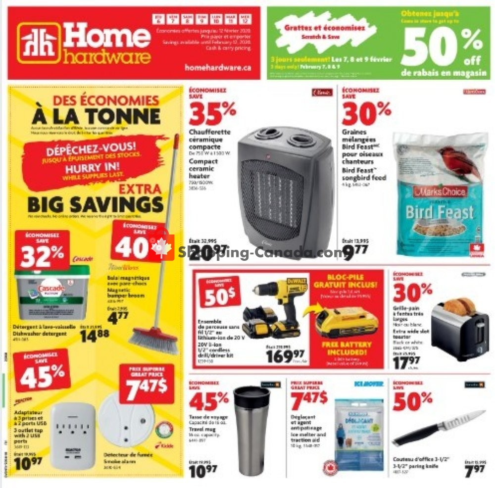 Flyer Home Hardware Canada - from Thursday February 6, 2020 to Wednesday February 12, 2020