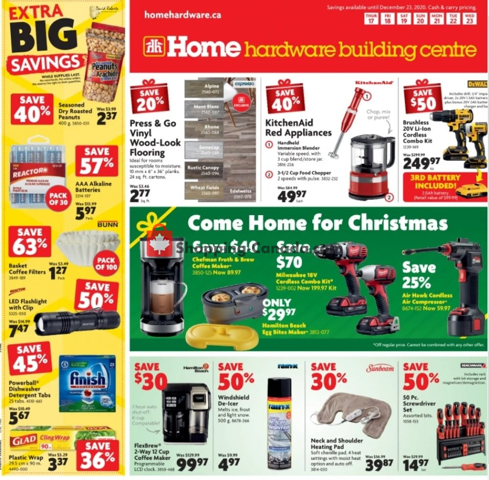 Flyer Home Hardware Canada - from Thursday December 17, 2020 to Wednesday December 23, 2020