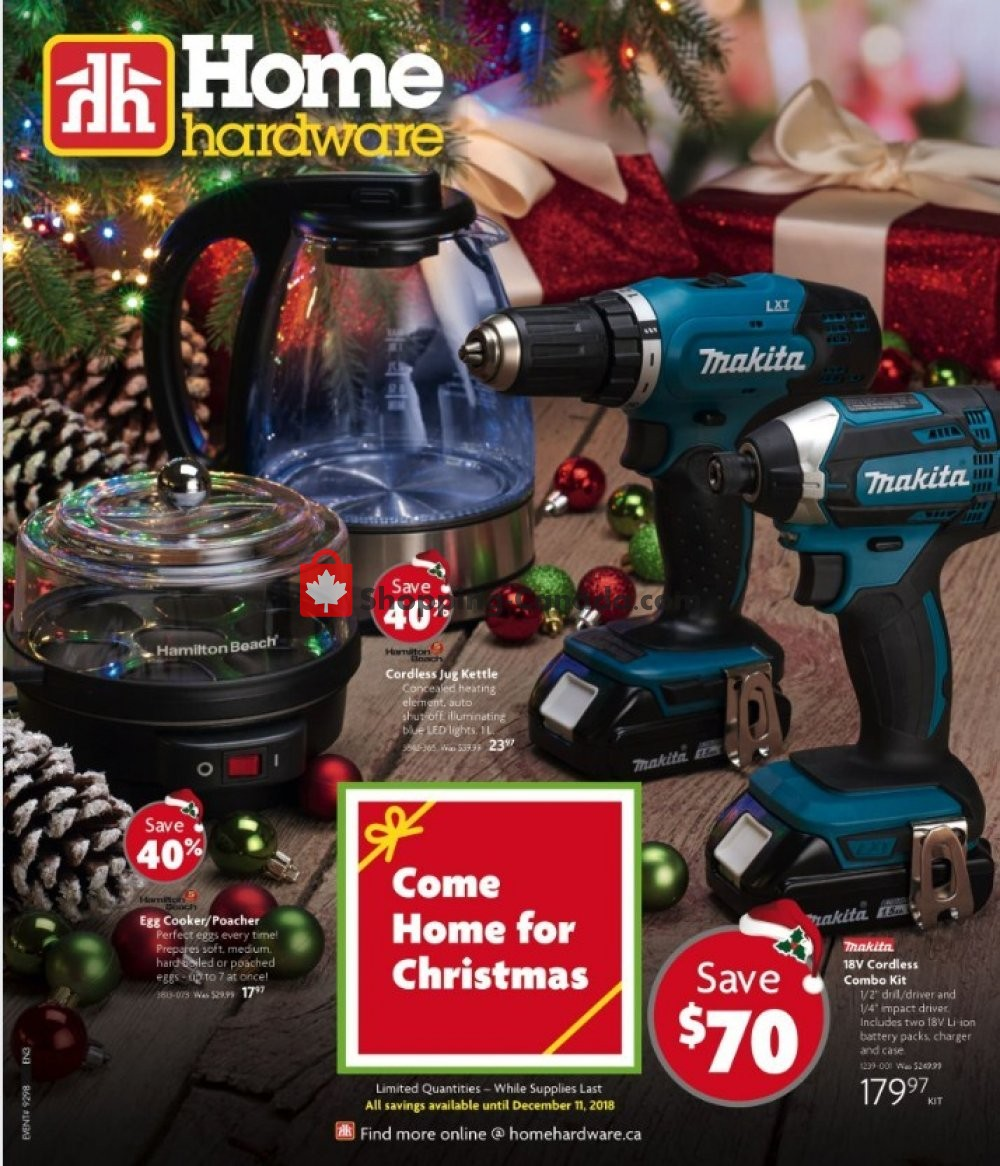 Flyer Home Hardware Canada - from Wednesday October 31, 2018 to Tuesday December 11, 2018