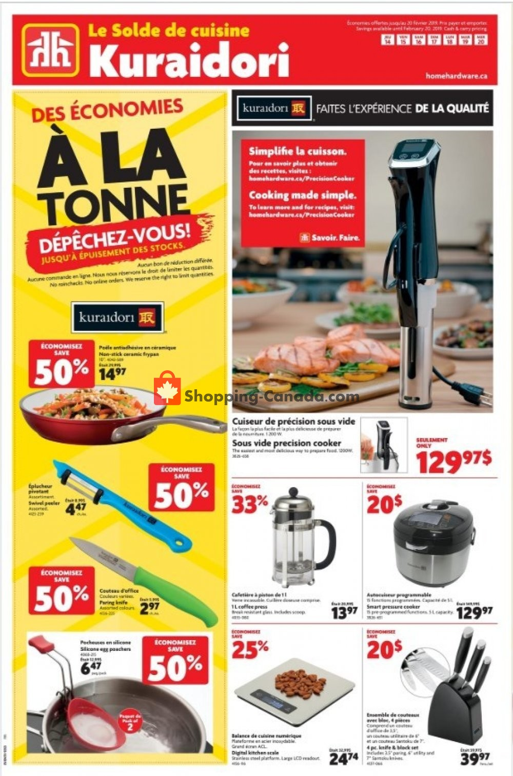 Flyer Home Hardware Canada - from Thursday February 14, 2019 to Wednesday February 20, 2019