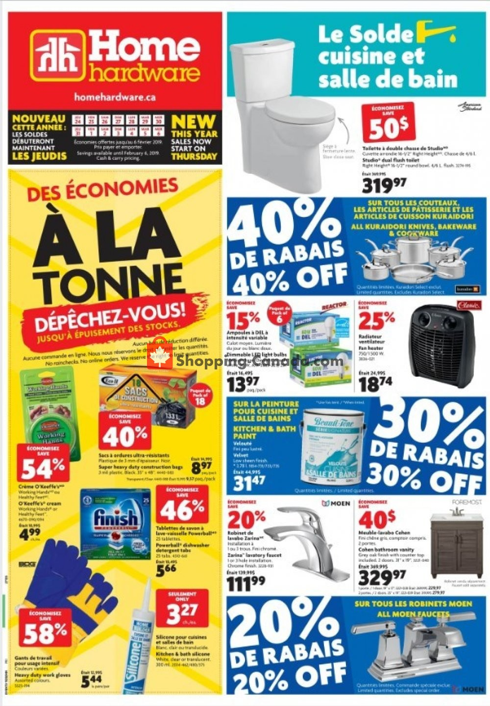 Flyer Home Hardware Canada - from Thursday January 24, 2019 to Wednesday February 6, 2019