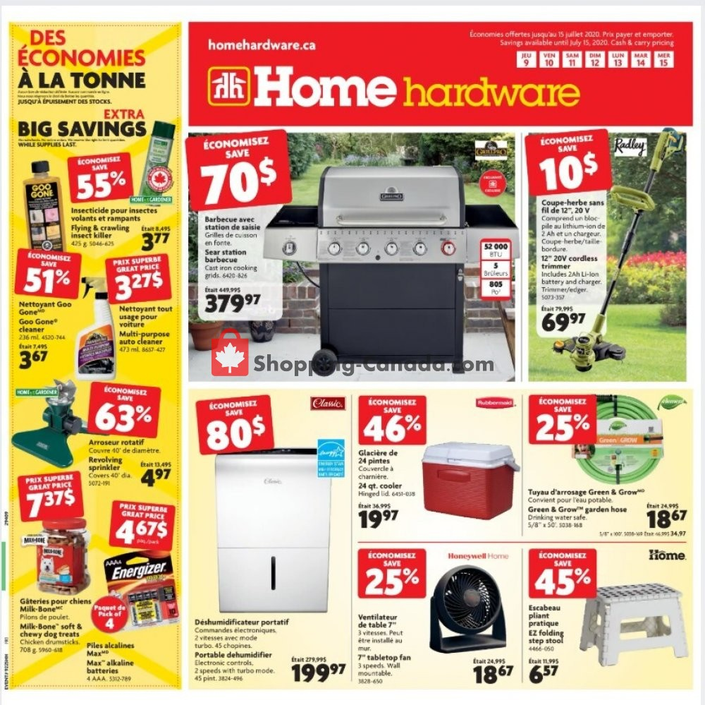 Flyer Home Hardware Canada - from Thursday July 9, 2020 to Wednesday July 15, 2020