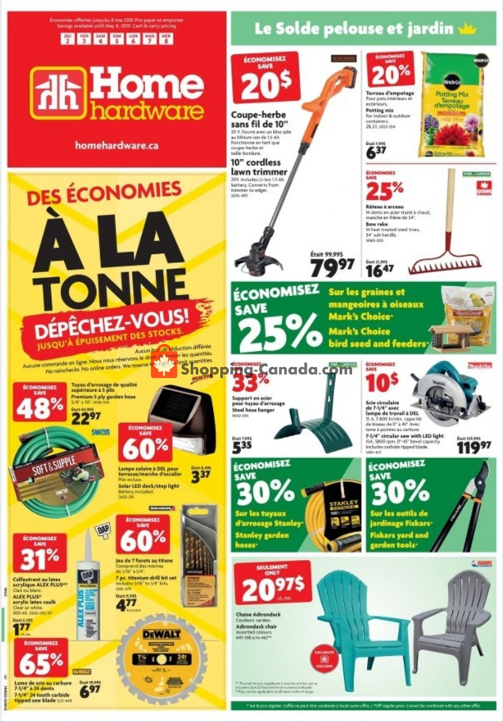 Flyer Home Hardware Canada - from Thursday May 2, 2019 to Wednesday May 8, 2019