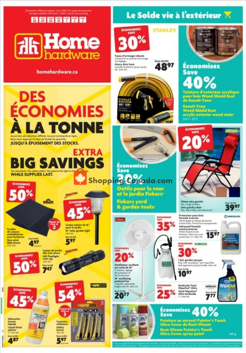 Flyer Home Hardware Canada - from Thursday May 28, 2020 to Wednesday June 3, 2020