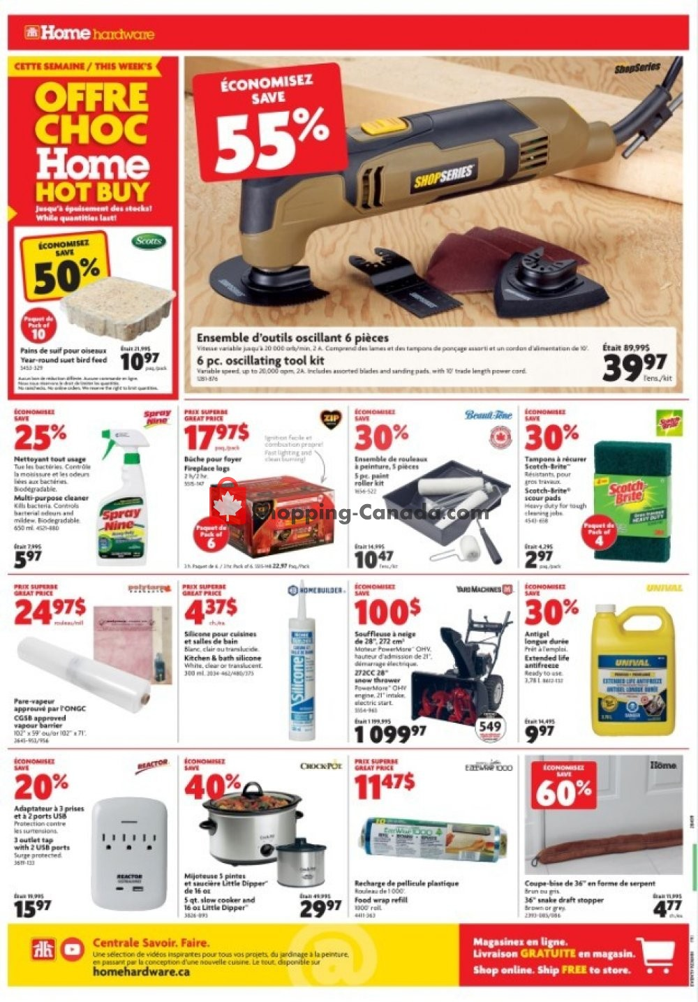 Flyer Home Hardware Canada - from Thursday November 7, 2019 to Wednesday November 13, 2019