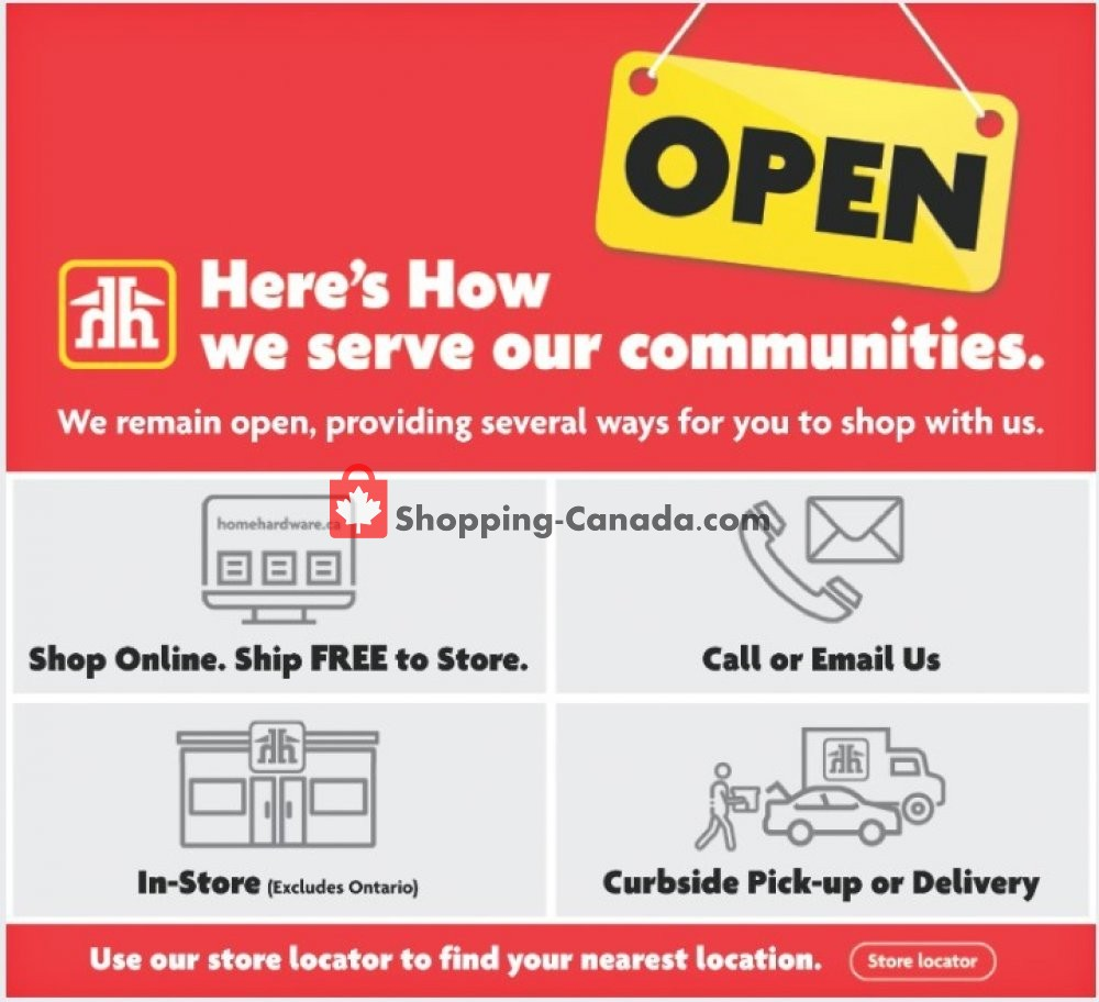Flyer Home Hardware Canada - from Thursday April 23, 2020 to Wednesday April 29, 2020