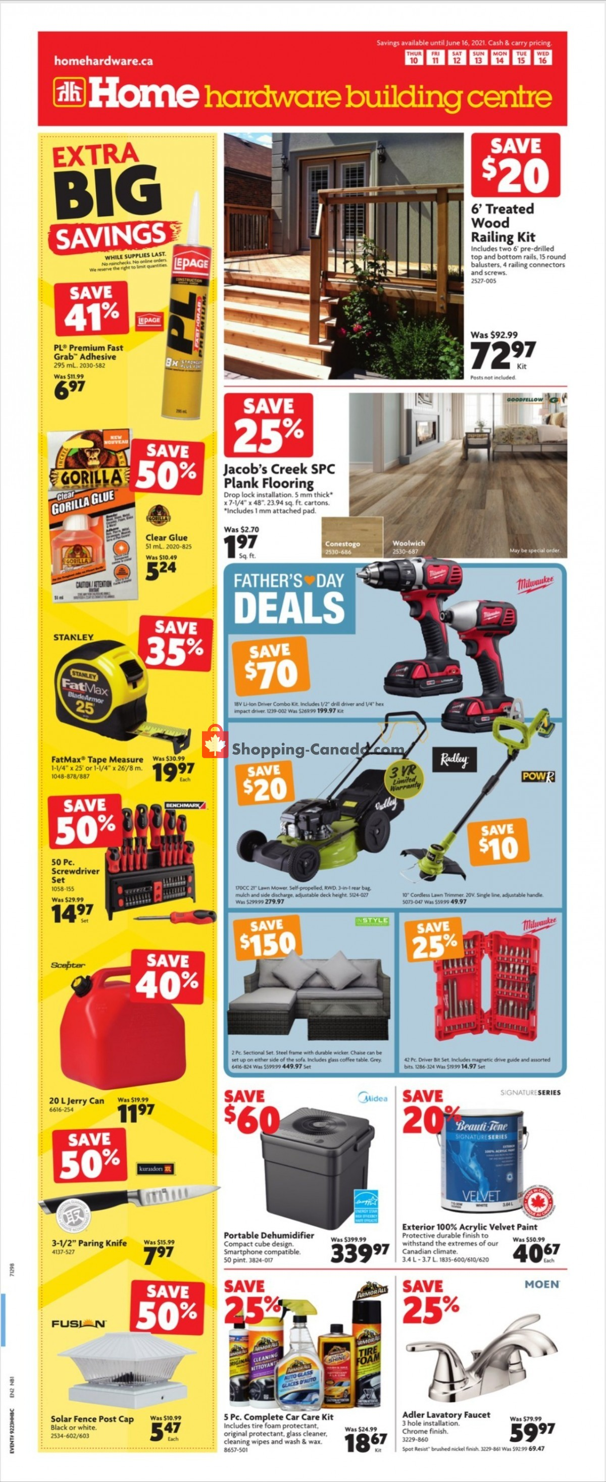 Flyer Home Hardware Canada - from Thursday June 10, 2021 to Wednesday June 16, 2021