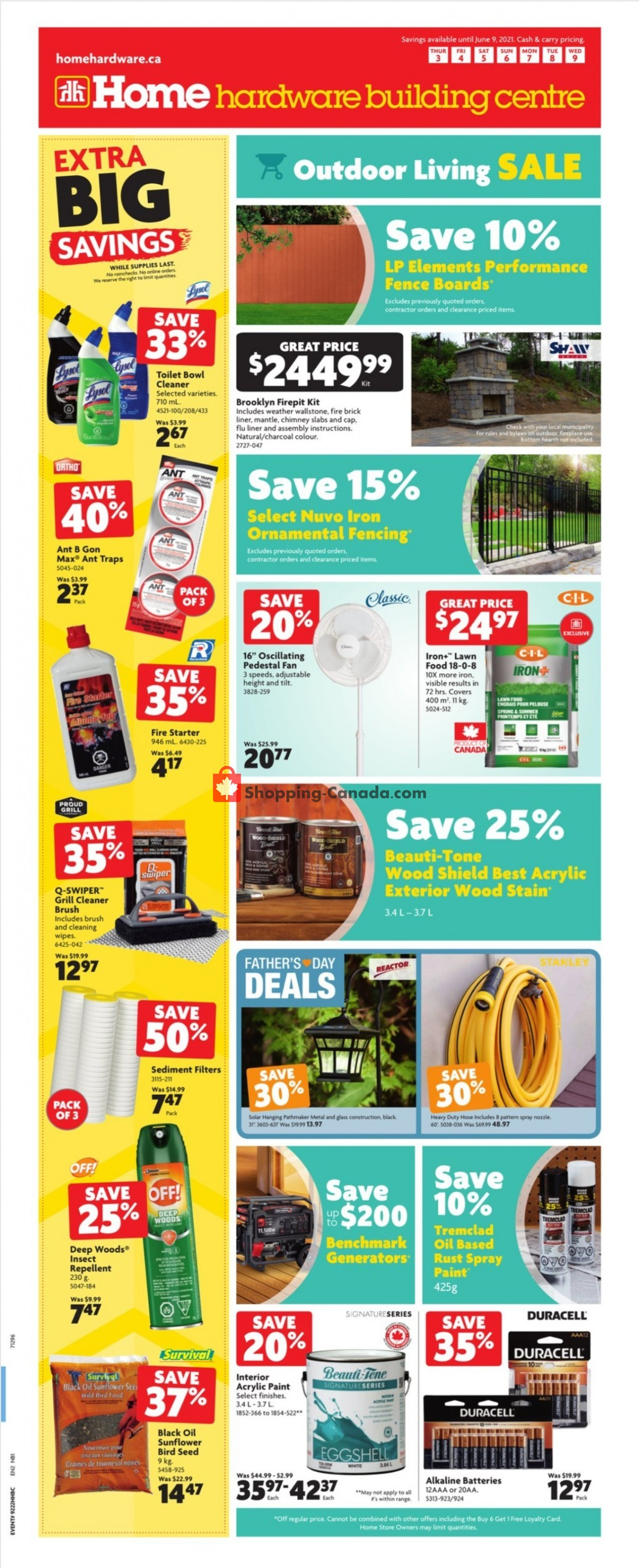 Flyer Home Hardware Canada - from Thursday June 3, 2021 to Wednesday June 9, 2021
