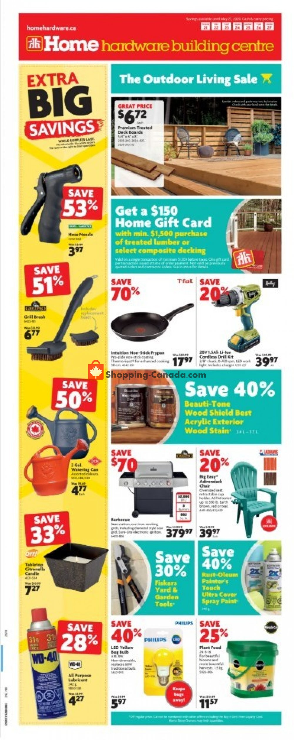 Flyer Home Hardware Canada - from Thursday May 21, 2020 to Wednesday May 27, 2020