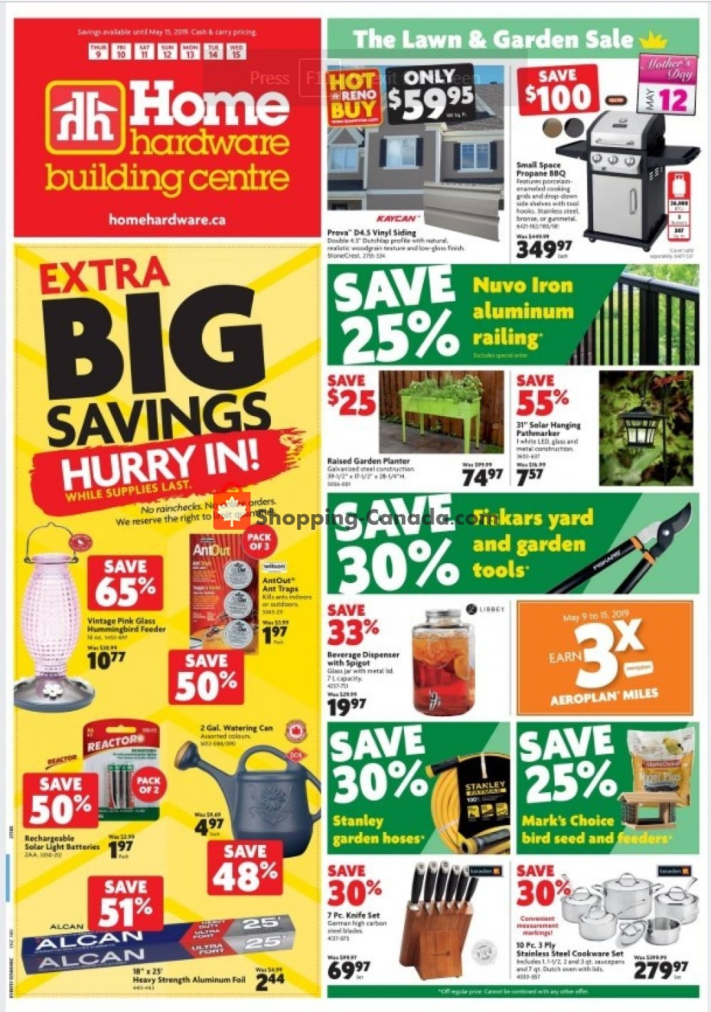 Flyer Home Hardware Canada - from Thursday May 9, 2019 to Wednesday May 15, 2019