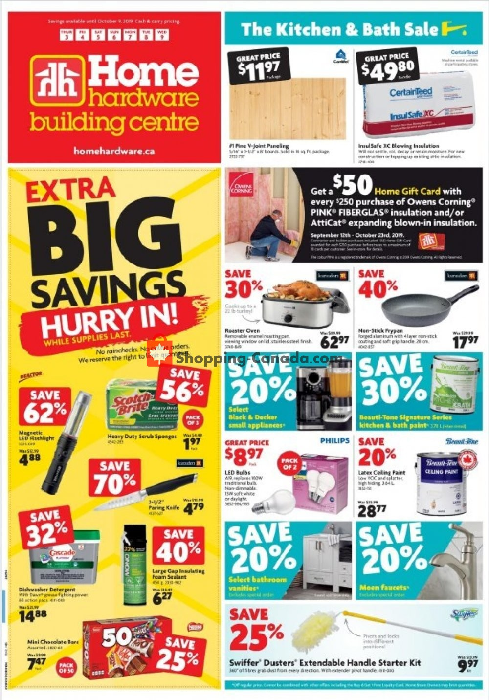 Flyer Home Hardware Canada - from Thursday October 3, 2019 to Wednesday October 9, 2019