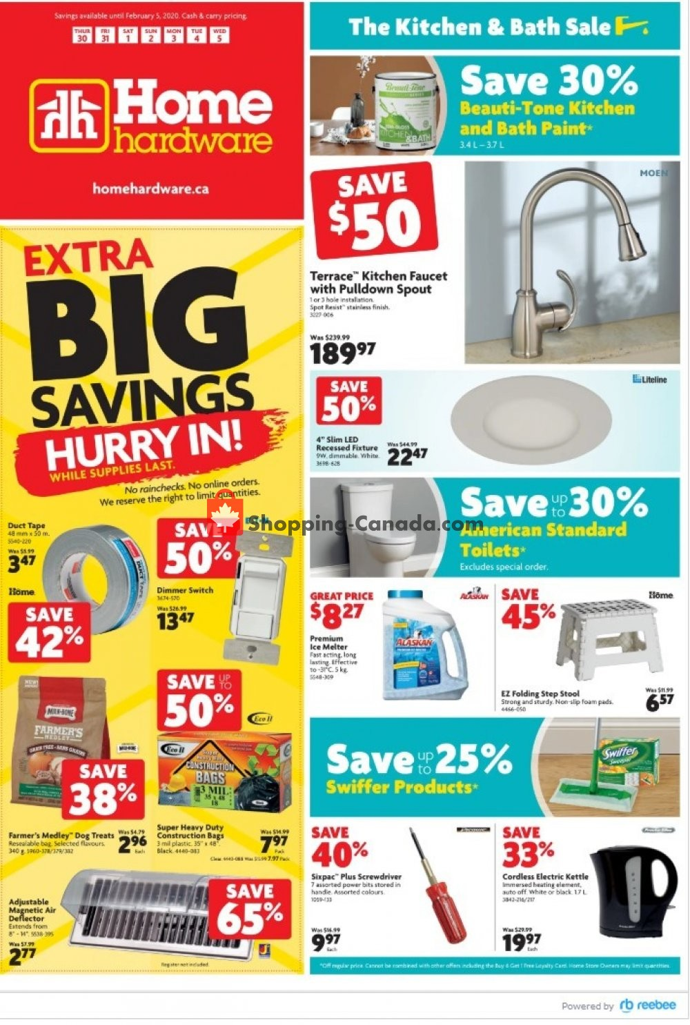 Flyer Home Hardware Canada - from Thursday January 30, 2020 to Wednesday February 5, 2020