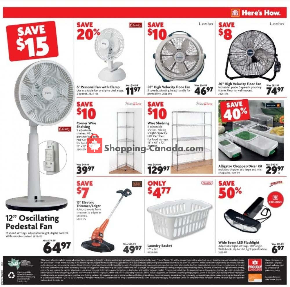 Flyer Home Hardware Canada - from Thursday July 11, 2019 to Wednesday July 17, 2019