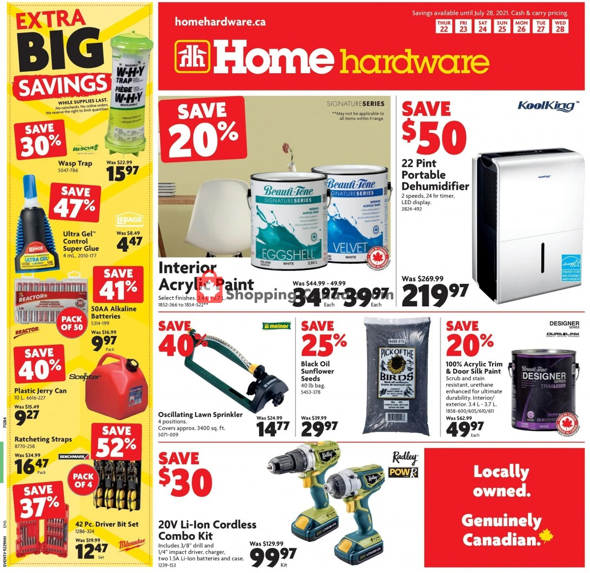Flyer Home Hardware Canada - from Thursday July 22, 2021 to Wednesday July 28, 2021