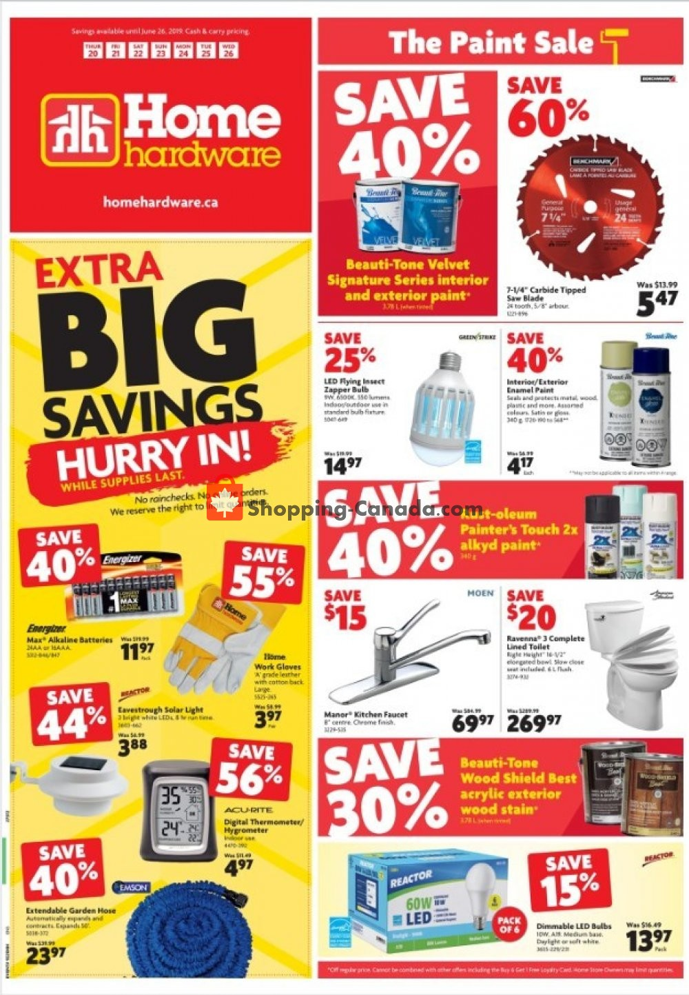 Flyer Home Hardware Canada - from Thursday June 20, 2019 to Wednesday June 26, 2019