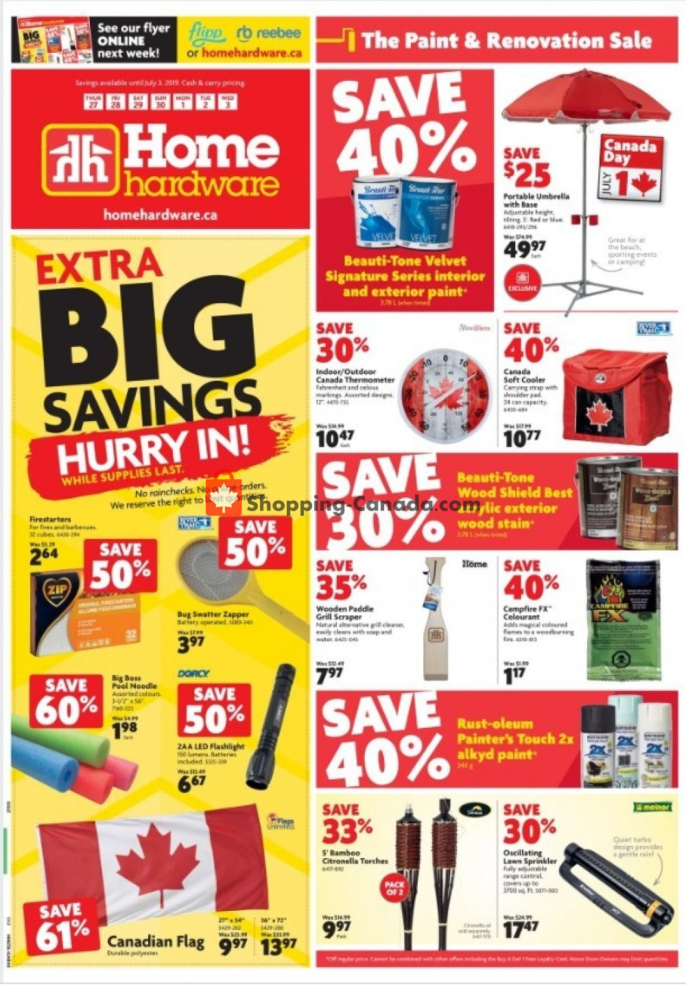 Flyer Home Hardware Canada - from Thursday June 27, 2019 to Wednesday July 3, 2019