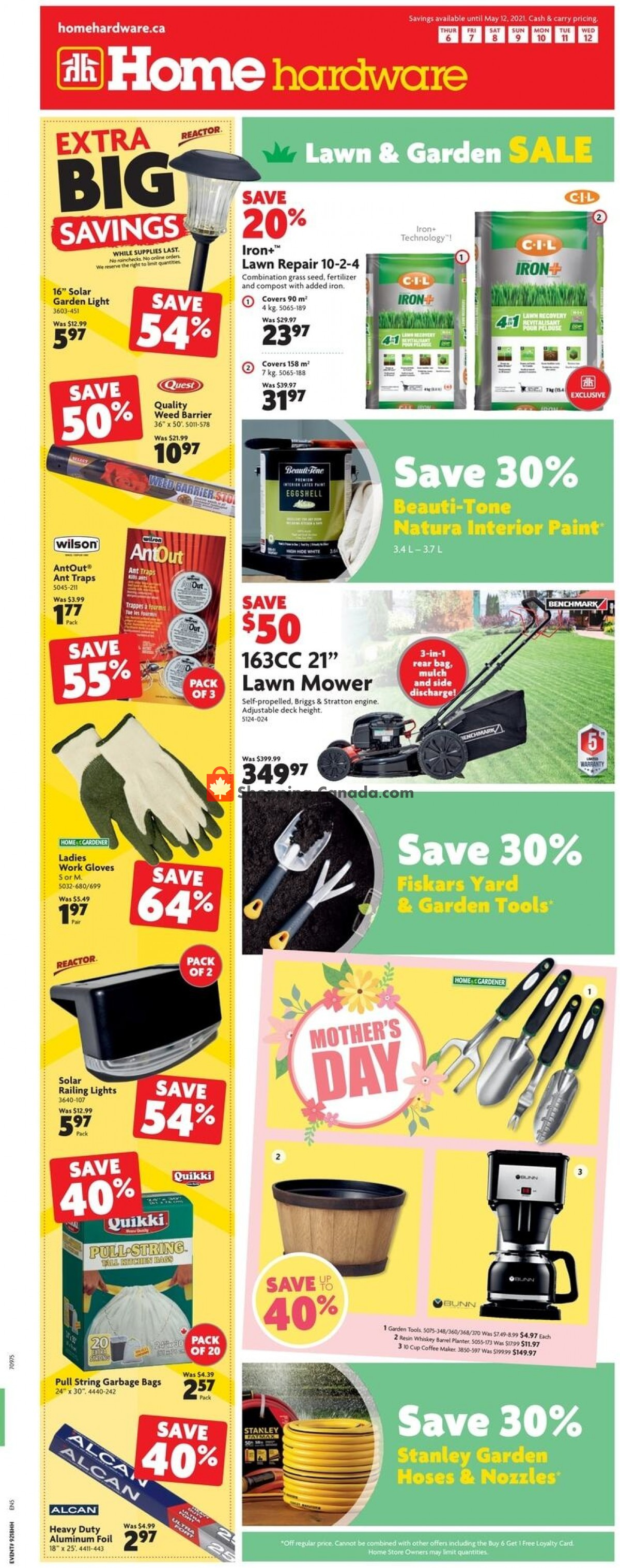 Flyer Home Hardware Canada - from Thursday May 6, 2021 to Wednesday May 12, 2021