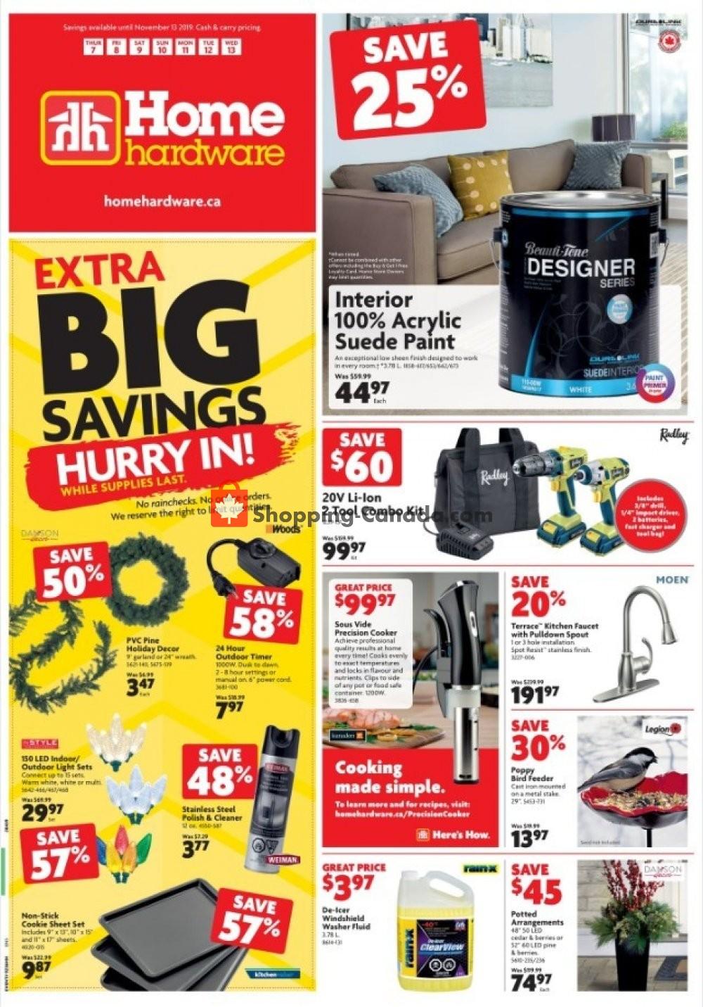 Flyer Home Hardware Canada - from Thursday November 7, 2019 to Wednesday November 13, 2019
