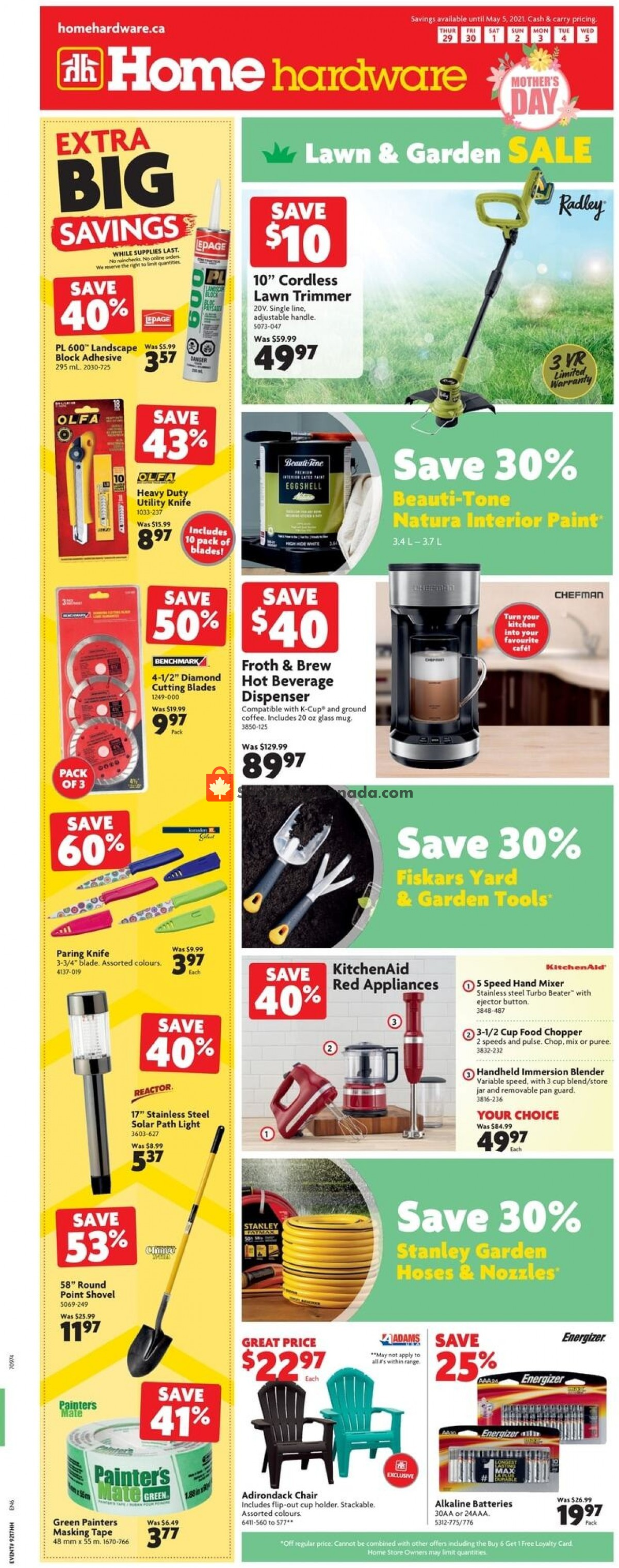 Flyer Home Hardware Canada - from Thursday April 29, 2021 to Wednesday May 5, 2021