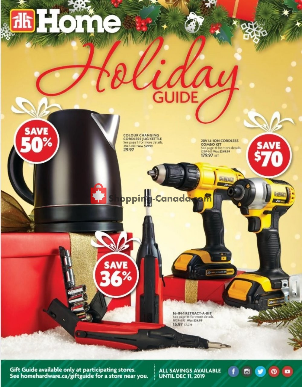 Flyer Home Hardware Canada - from Thursday October 31, 2019 to Wednesday December 11, 2019