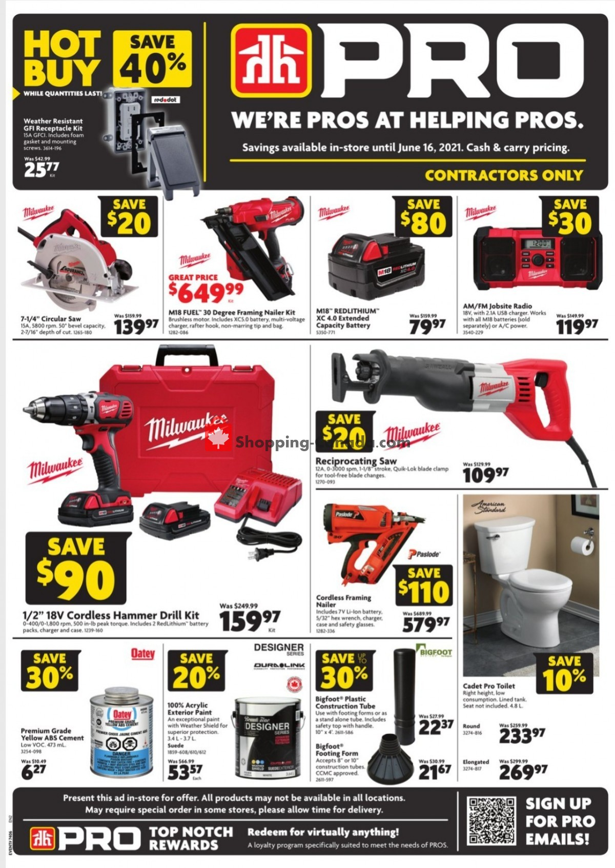 Flyer Home Hardware Canada - from Thursday June 3, 2021 to Wednesday June 16, 2021