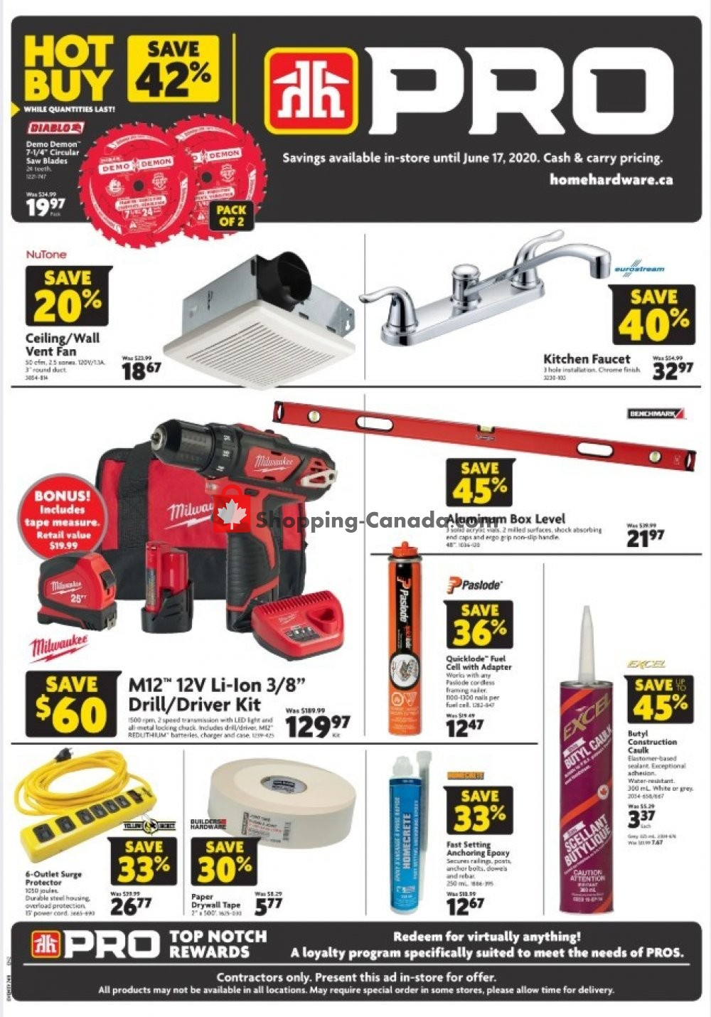 Flyer Home Hardware Canada - from Thursday June 4, 2020 to Wednesday June 17, 2020