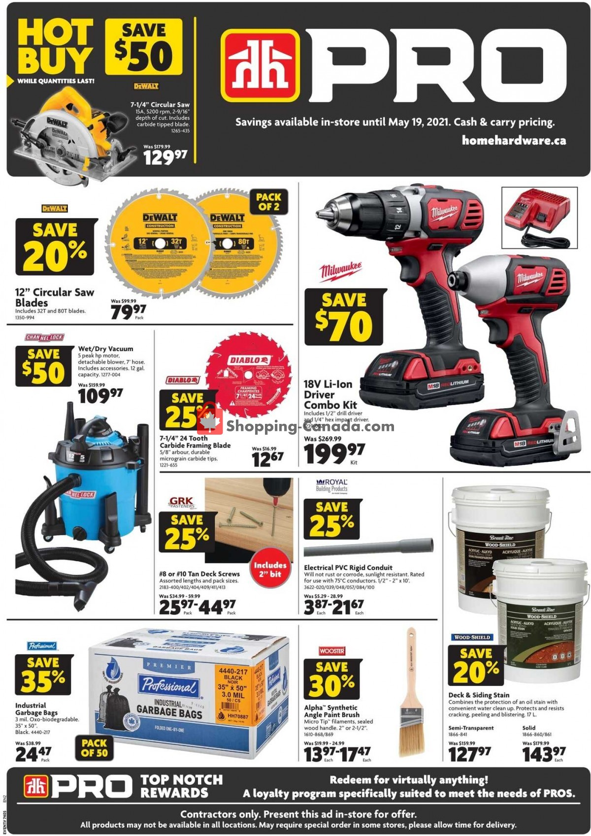 Flyer Home Hardware Canada - from Thursday May 6, 2021 to Wednesday May 19, 2021