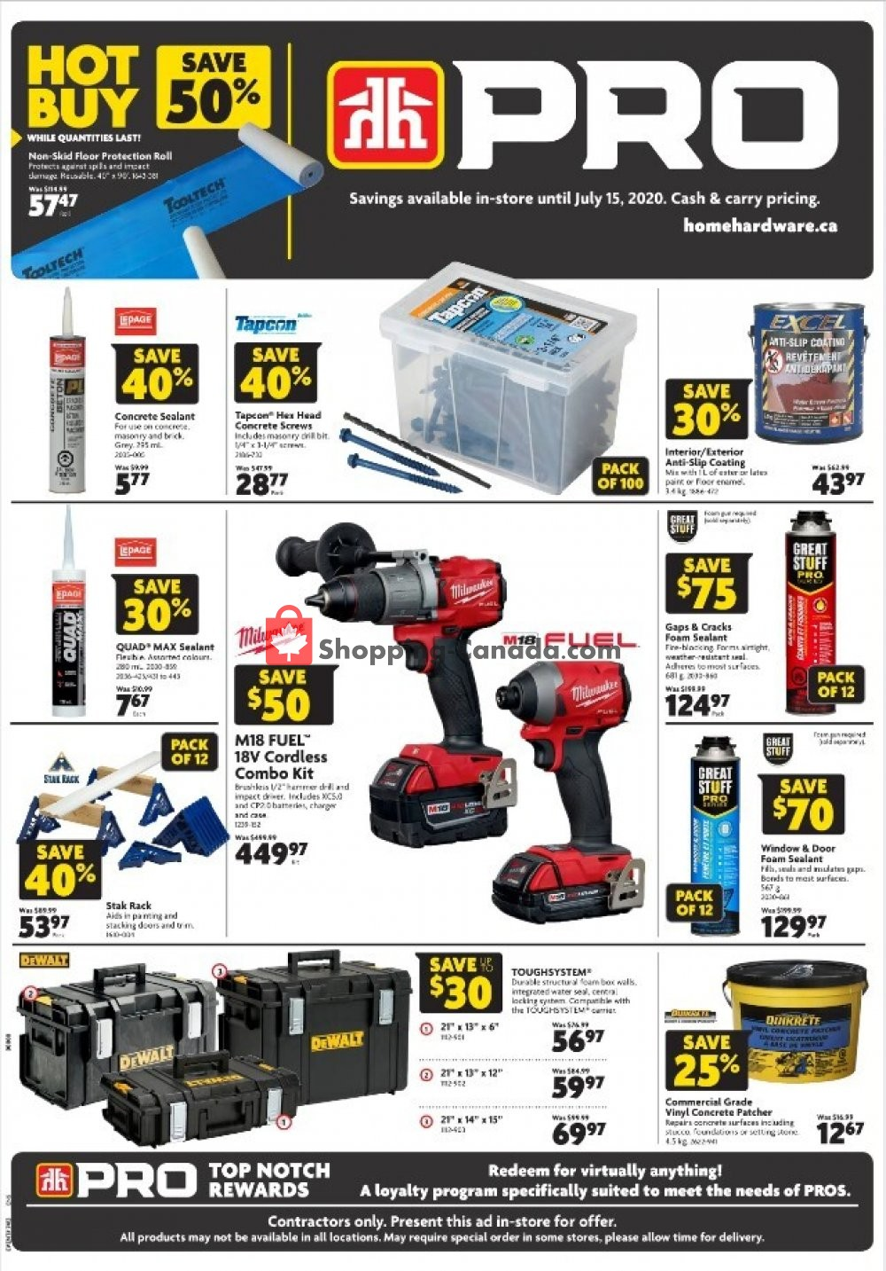Flyer Home Hardware Canada - from Thursday July 2, 2020 to Wednesday July 15, 2020
