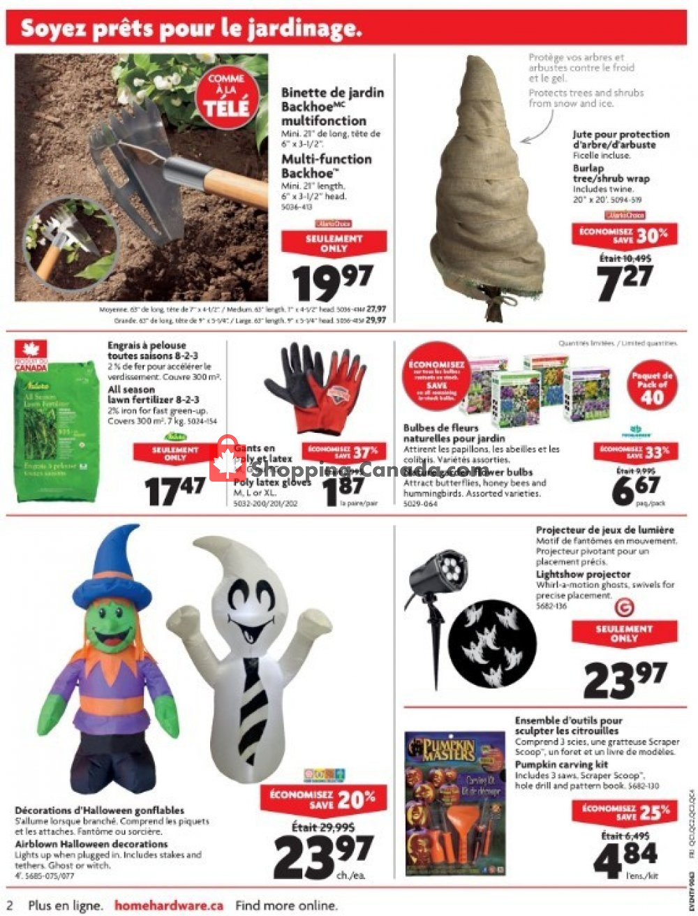 Flyer Home Hardware Canada - from Wednesday October 10, 2018 to Tuesday October 16, 2018